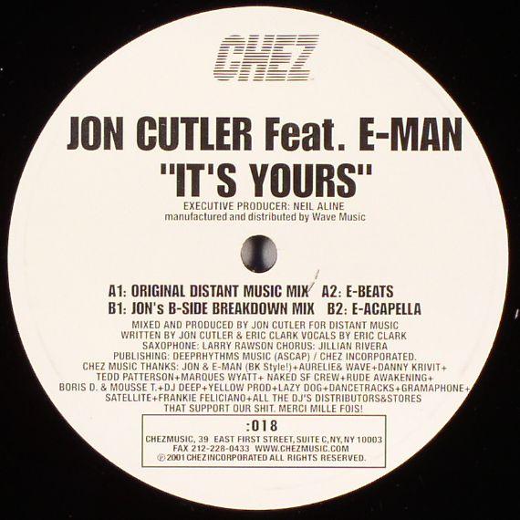 CUTLER, Jon feat E MAN - It's Yours