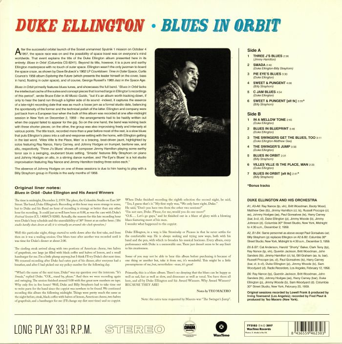Duke ELLINGTON Blues In Orbit vinyl at Juno Records