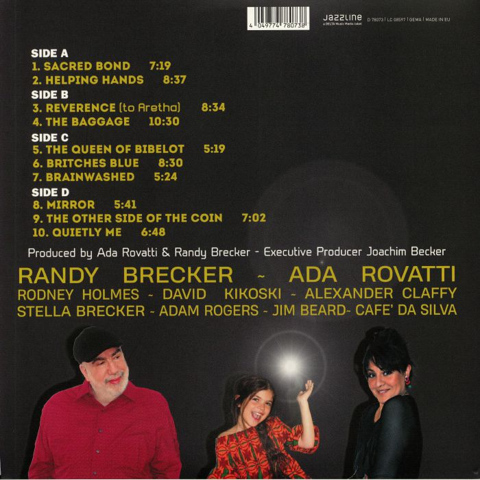 Image result for Randy Brecker & Ada Rovatti - Brecker Plays Rovatti: Sacred Bond
