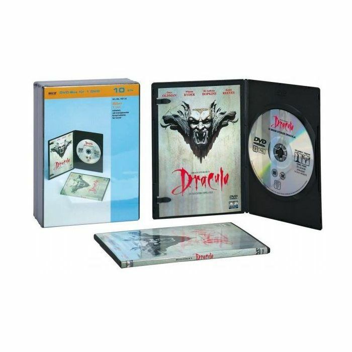 BECO - Super Slim Single DVD Library Box - Pack Of 10