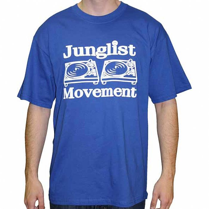 JUNGLIST MOVEMENT - Aerosoul Junglist Movement T-shirt (blue t-shirt with white logo)