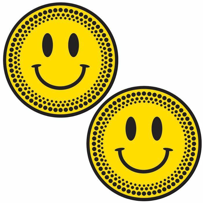 DMC - DMC Smiley Platter Slipmats (pair, yellow on black)