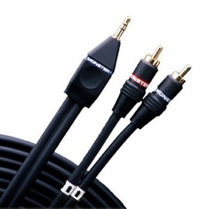 phono rca to 3 5mm mini jack stereo audio cable monster standard interlink 200 stereo rca. Black Bedroom Furniture Sets. Home Design Ideas