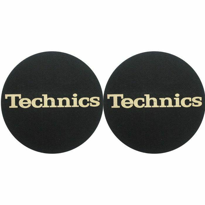 SLIPMAT FACTORY - Slipmat Factory Technics Logo Slipmats (black with gold text)