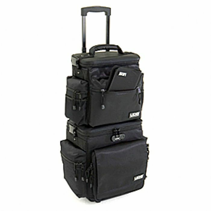 UDG - UDG Slingbag DJ Vinyl Record Trolley & Bag Set Deluxe (black)