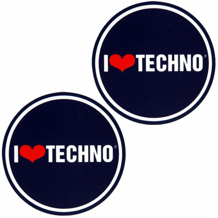 SLIPMAT FACTORY - Slipmat Factory I Love Techno Slipmats (pair, black/white/red)