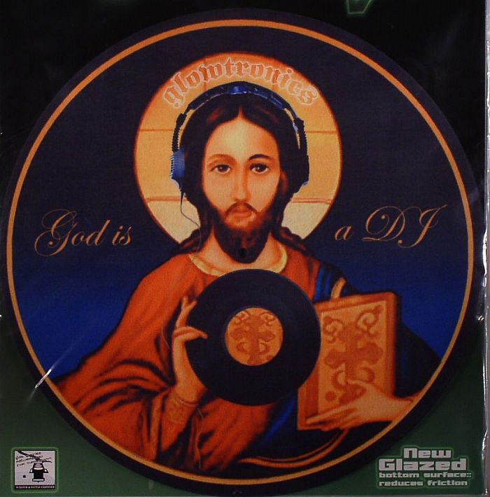GLOWTRONICS - Glowtronics God Is A DJ Classic Non Glow Slipmats (pair)
