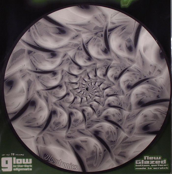 GLOWTRONICS - Glowtronics Organic Fractal Glow In The Dark Slipmats (pair)