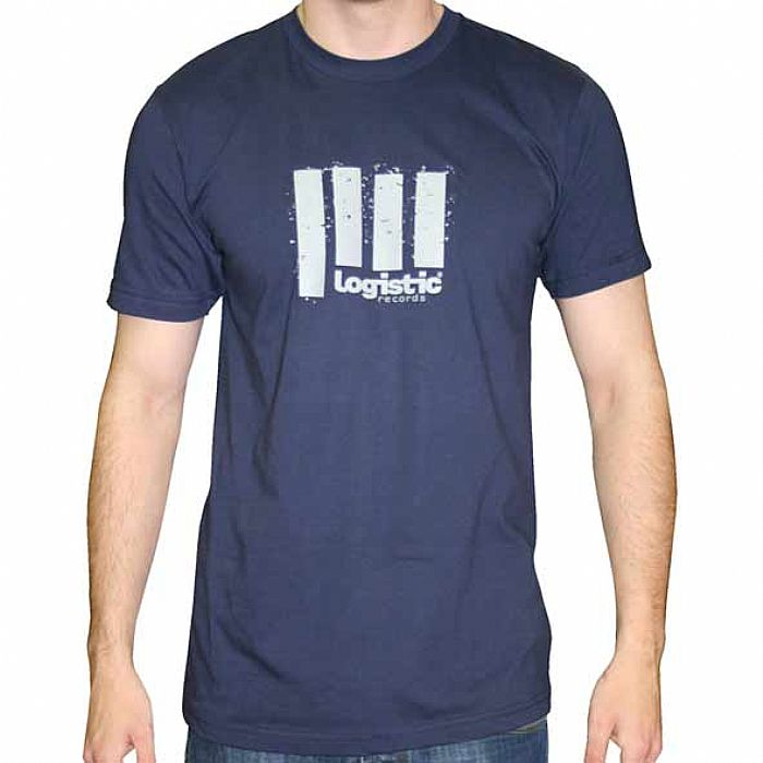 Logistic Logistic Designs T Shirt Navy Blue With Grey