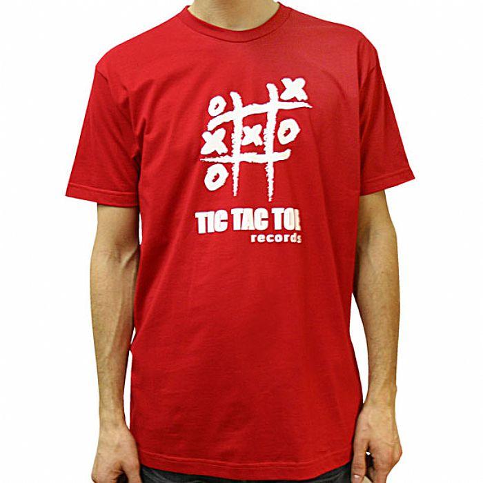 TIC TAC TOE - Tic Tac Toe Classic Logo T-Shirt (red with white logo)