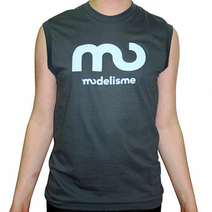 MODELISME - Modelisme Records Sleeveless T-Shirt (asphalt grey with light blue logo)