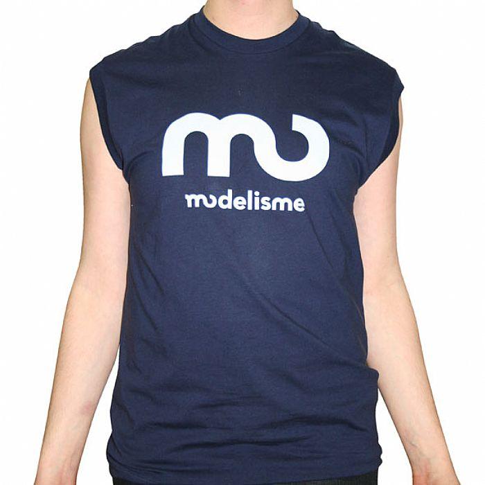 MODELISME - Modelisme Records Sleeveless T-Shirt (navy with light blue logo)