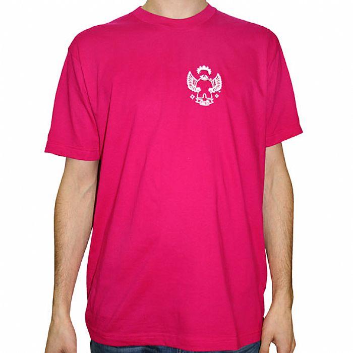 TEST PRESSING Angel Toy Mini Logo T Shirt (fuschia pink with white ...
