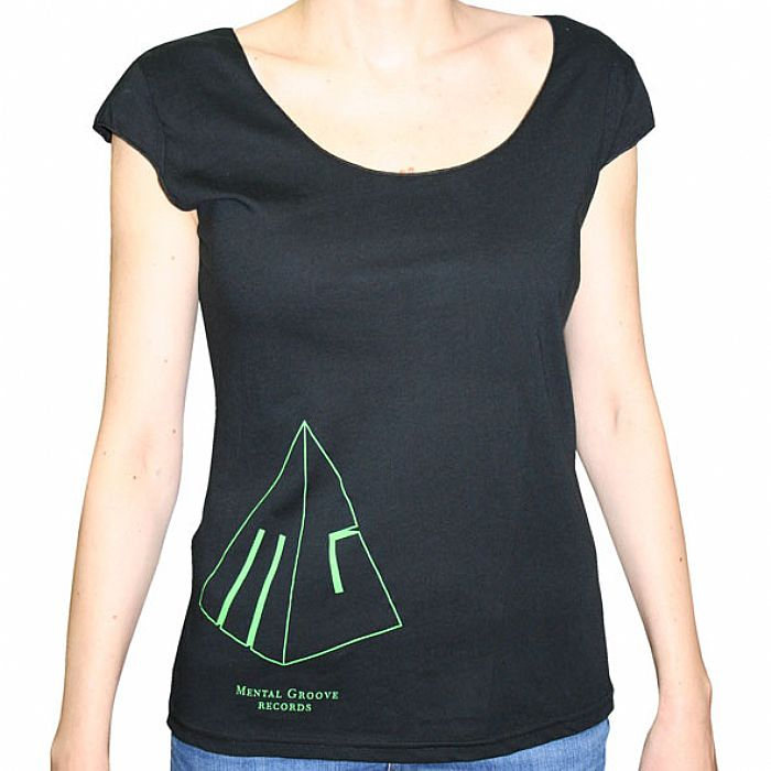 MENTAL GROOVE - Mental Groove T-Shirt (black with green logo)