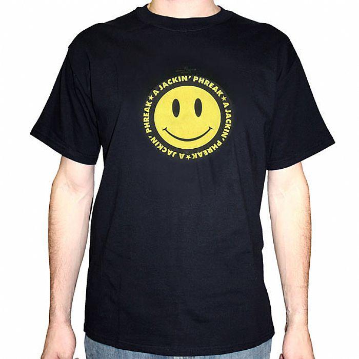 A JACKIN PHREAK - A Jackin Phreak T-Shirt (black with yellow smiley face)
