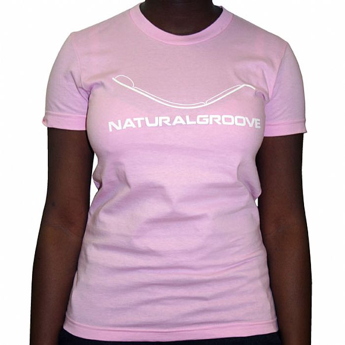 NATURAL GROOVE - Natural Groove T-Shirt (pink with white logo)
