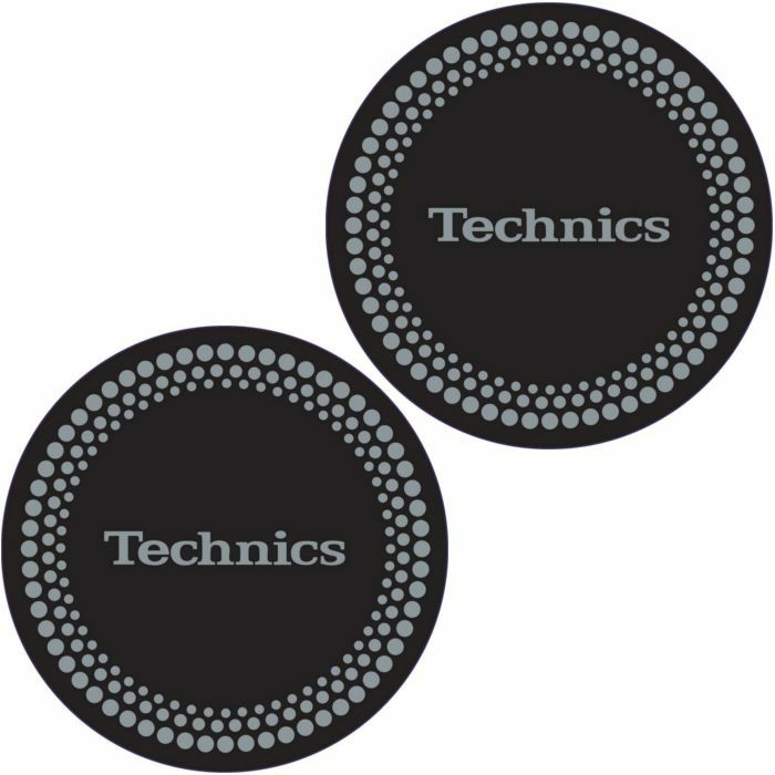TECHNICS - Technics Dots Slipmats (pair, black with silver foil design)