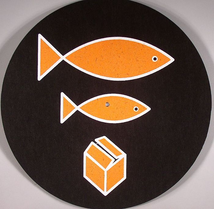 Dmc Big Fish Little Fish Slipmat Black With Orange Logo Vinyl At