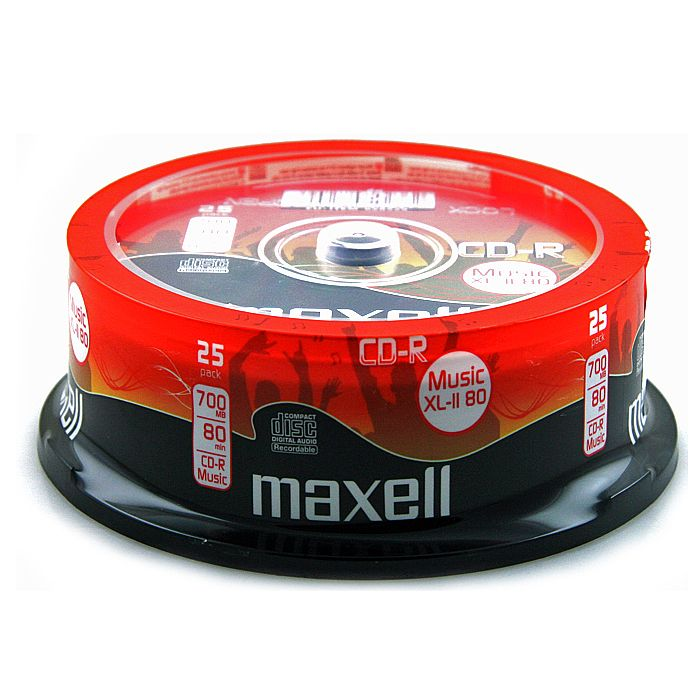 MAXELL - Maxell CDR80 XLII 80 Minute Blank CDs (spindle of 25)