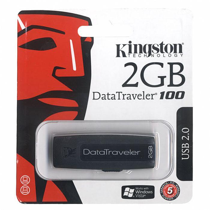 kingston kingston 2gb data traveler 100 usb flash drive. Black Bedroom Furniture Sets. Home Design Ideas