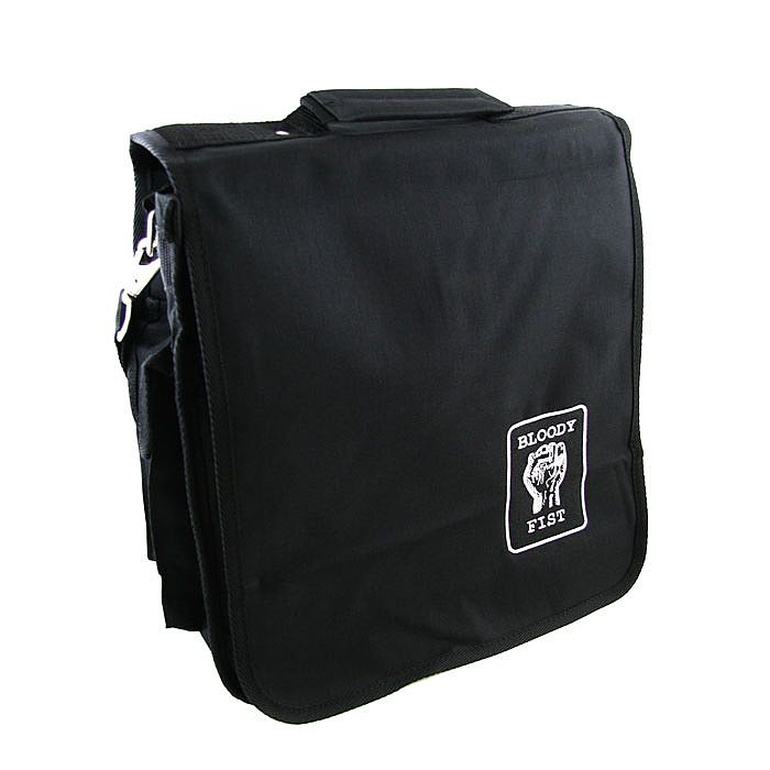 bloody fist bloody fist record bag black with white