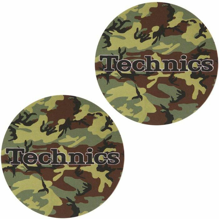 SLIPMAT FACTORY - Slipmat Factory Technics Army Green Slipmats (pair, camo)