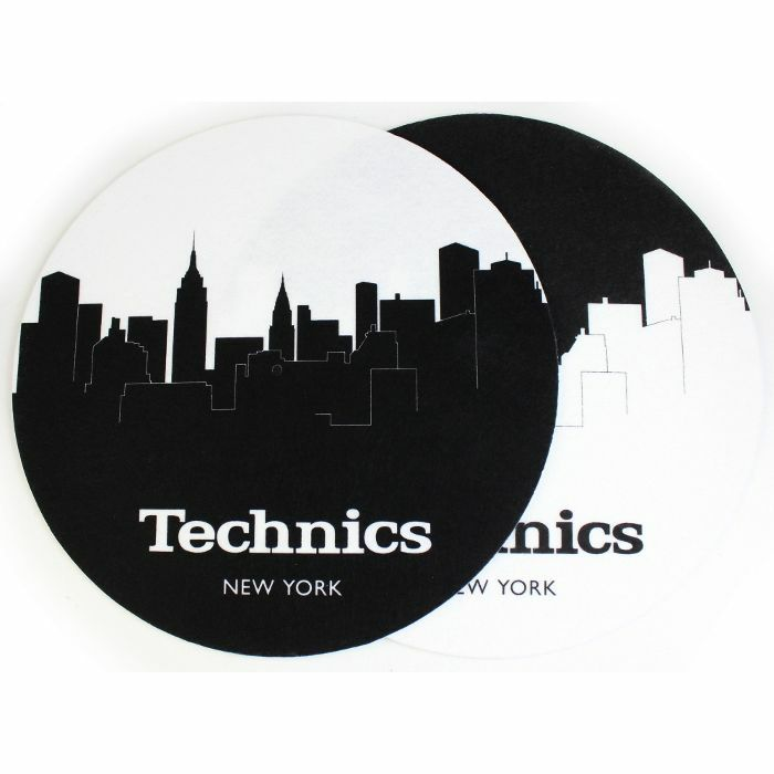 SLIPMAT FACTORY - Slipmat Factory Technics New York Skyline Slipmats (black & white, pair)