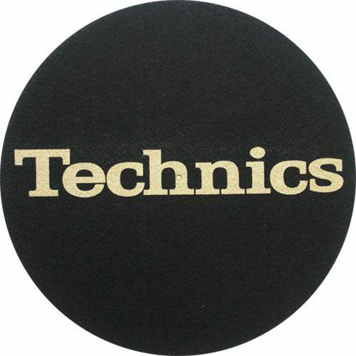 SLIPMAT FACTORY - Slipmat Factory Technics Logo Slipmats (black, gold logo)