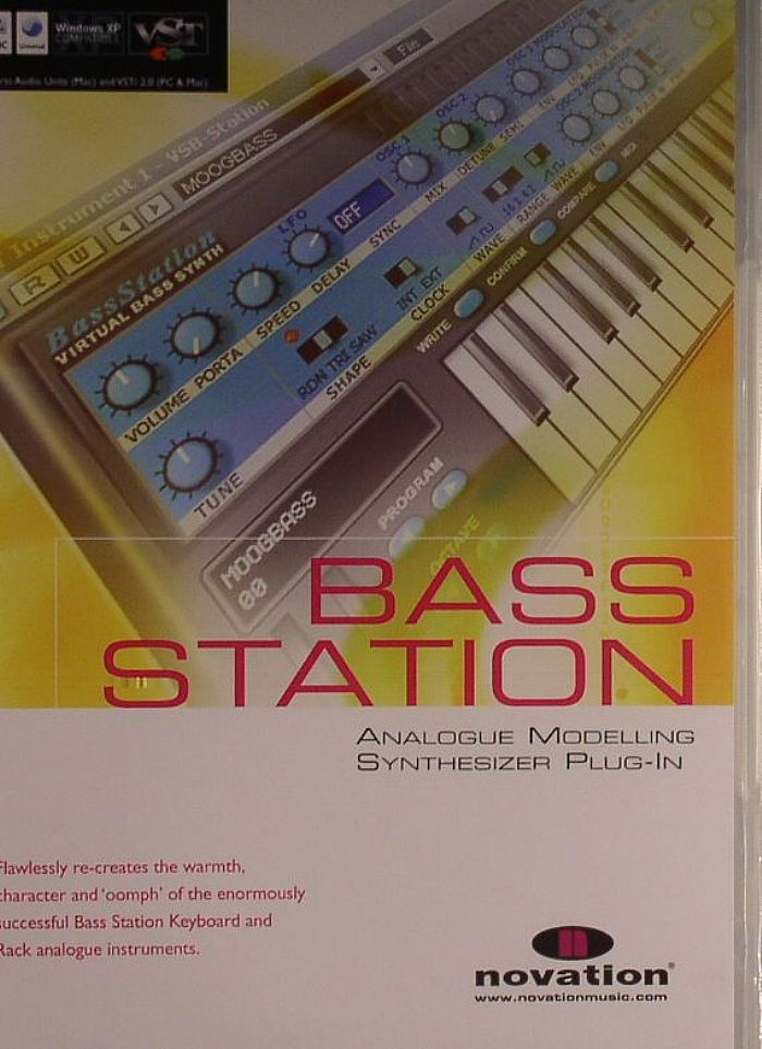 Novation Bass Station Analogue Modelling Synthesizer Plug-in (virtual  analog VST instrument plug-in based on the Novation Bass Station hardware