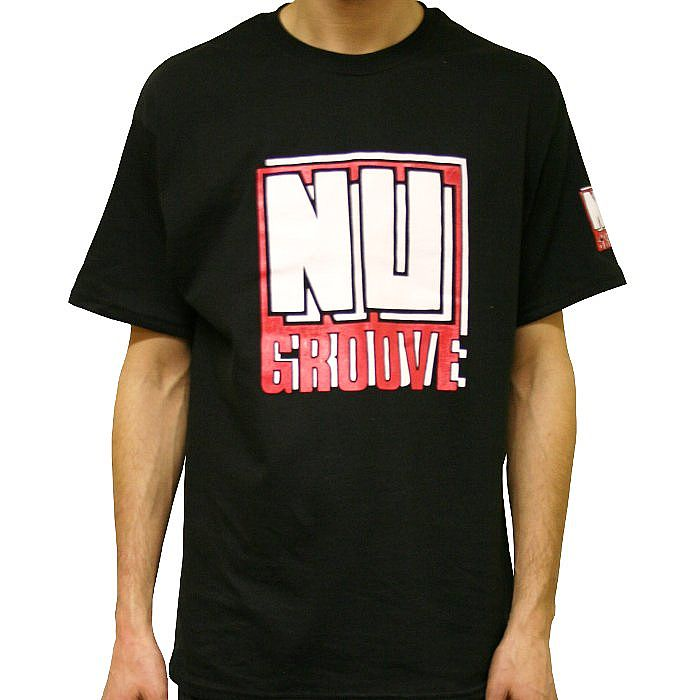 NU GROOVE - Nu Groove T-shirt (black with white & red logo)