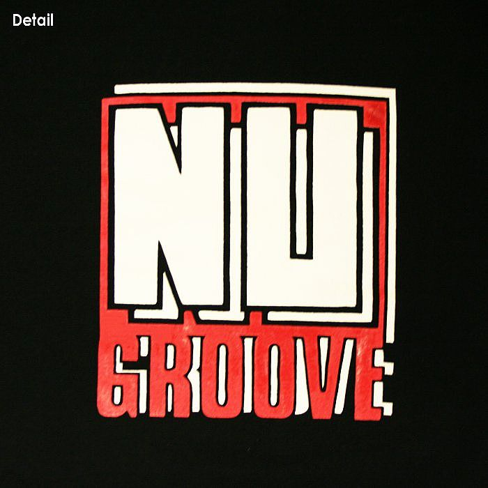 Nu Groove Nu Groove T Shirt Black With White Amp Red Logo
