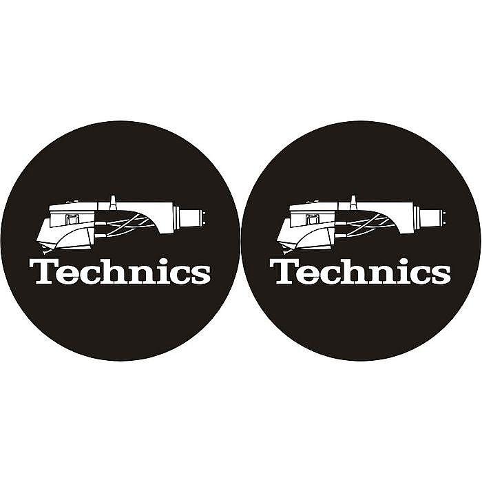 TECHNICS - Technics Headshell 1 Slipmats (pair, black/white)