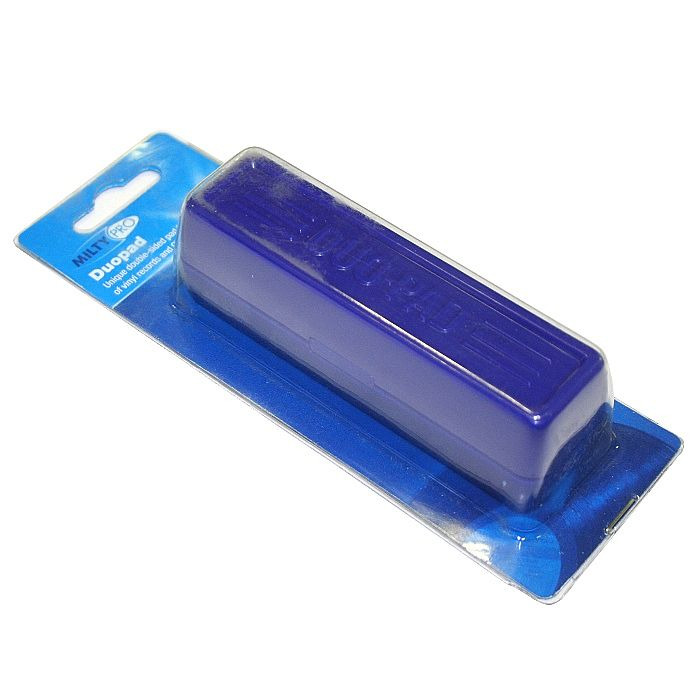 MILTY - Milty Duopad Vinyl Record CD & DVD Cleaning Pad (blue) (NOT AVAILABLE OUTSIDE THE UK)