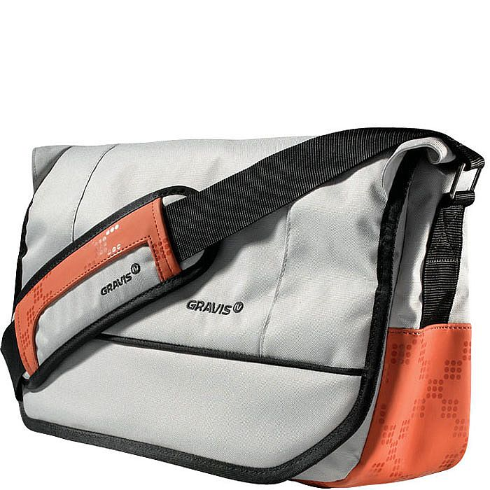 Gravis Hobo Medium Courier Bag (mid gray) (zippered secure main compartment  with weather flap, large main compartment with zippered interior pocket