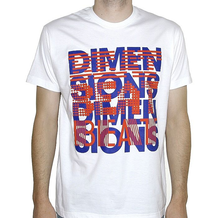 BEAT DIMENSIONS - Beat Dimensions T-shirt (white with blue & red logo)