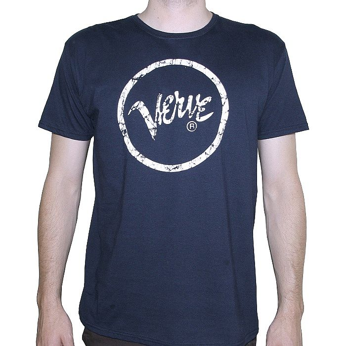 Verve Verve T Shirt Navy With White Logo Vinyl At Juno