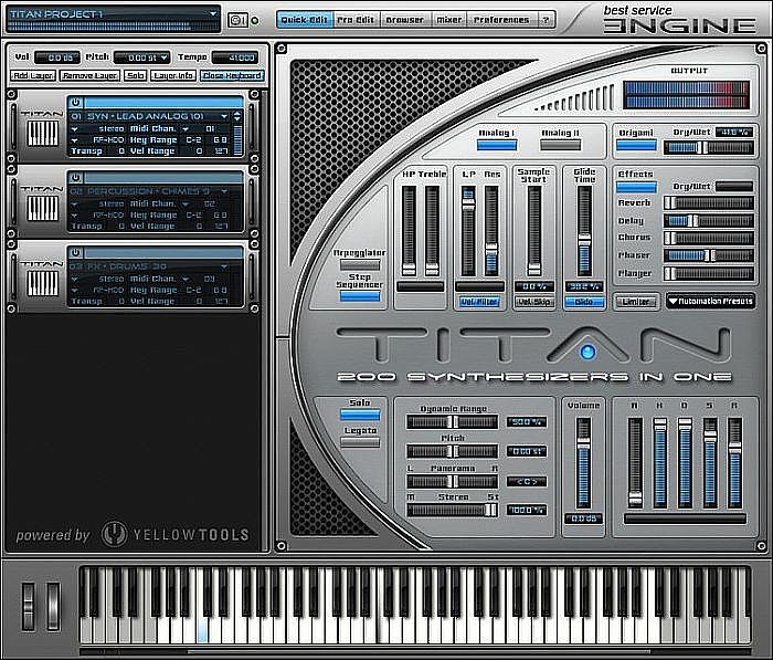 Titan (virtual instrument synthesizer sound collection plugin with 2327  synth sounds from over 200 classic analog synthesizers & modular systems)