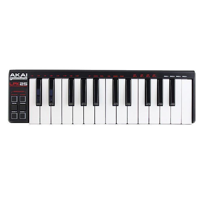AKAI - Akai LPK25 25 Key Mini USB MIDI Laptop Performance Keyboard Controller