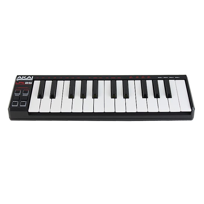 akai akai lpk25 25 key mini usb midi laptop performance keyboard controller vinyl at juno records. Black Bedroom Furniture Sets. Home Design Ideas