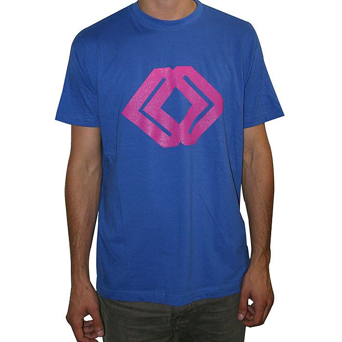 MOTOR CITY DRUM ENSEMBLE - MCDE Raw Cuts T-shirt (blue with pink logo (Juno exclusive))