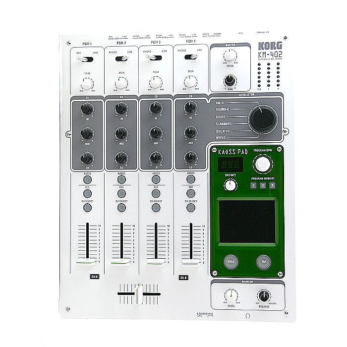 KORG - Korg KM 402 (4-Channel dynamic DJ mixer with integrated KAOSS pad) (white)
