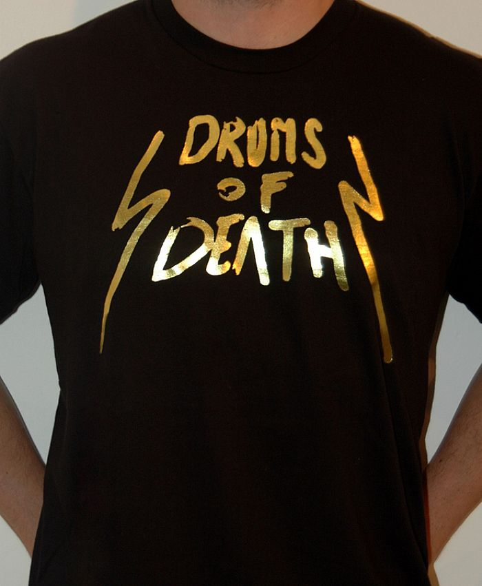 DRUMS OF DEATH - Drums Of Death T-shirt (black with gold logo)