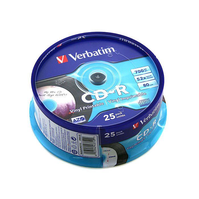 Verbatim Verbatim Printable Vinyl Effect Cdr80 Blank Cdrs