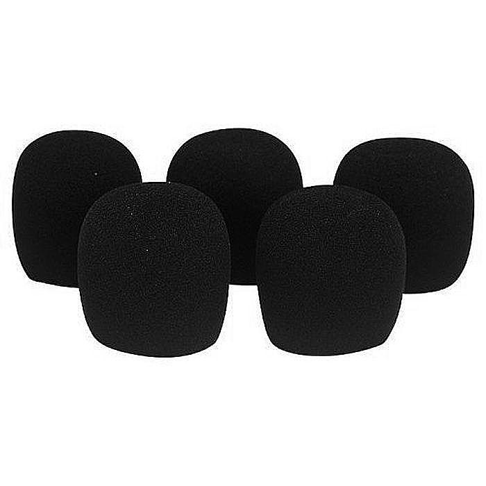 QTX SOUND - QTX Sound Dynamic Microphone Windshields (black, pack of 5)