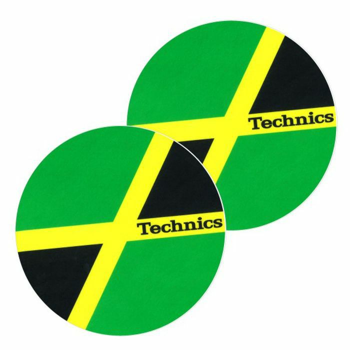 technics technics jamaika slipmats green black yellow vinyl at juno records. Black Bedroom Furniture Sets. Home Design Ideas
