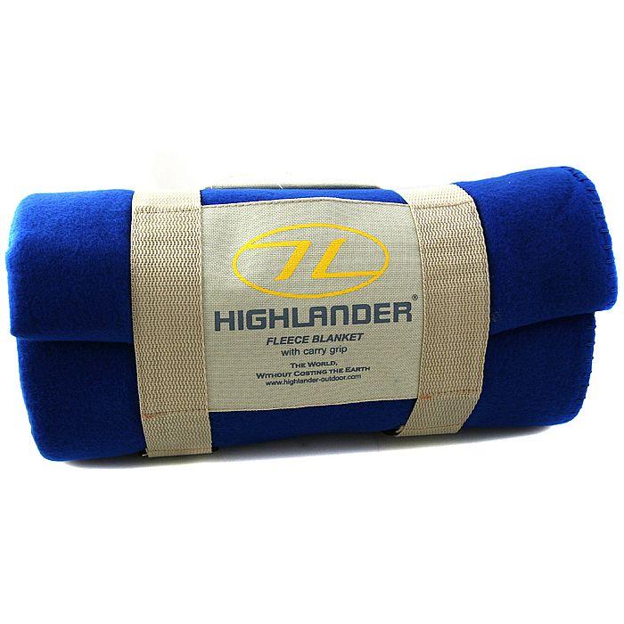 HIGHLANDER - Highlander Fleece Blanket With Carry Grip (blue)