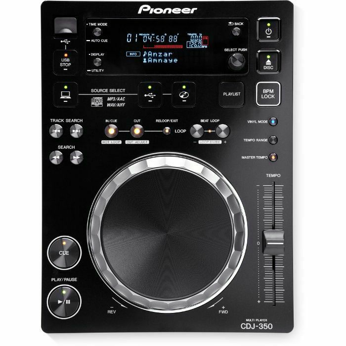 PIONEER - Pioneer CDJ-350 Digital Multi CD USB Player (black)