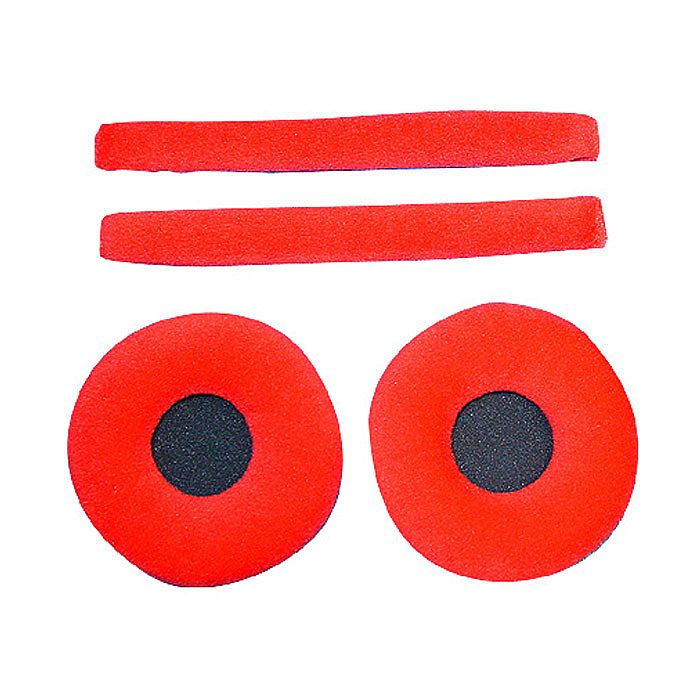ZOMO - Zomo Replacement Earpads & Headband Pad Set For Sennheiser HD25 Headphones (velour red)