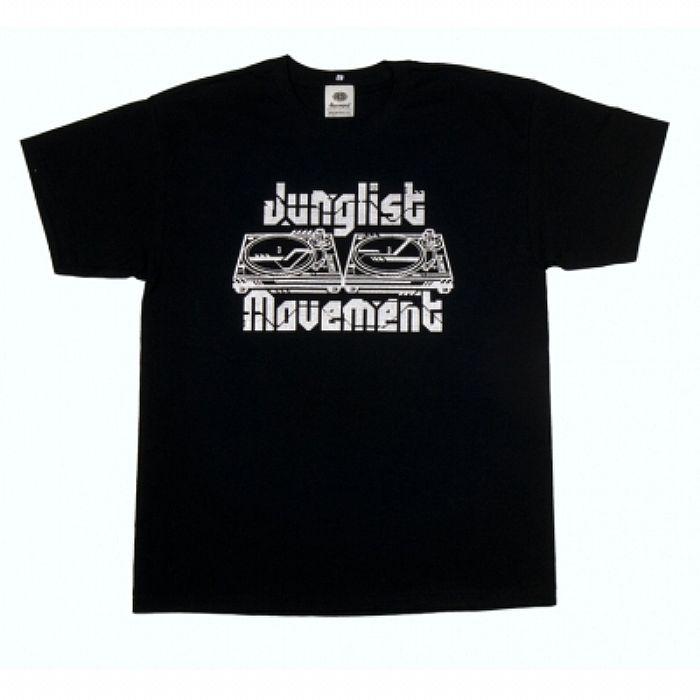JUNGLIST MOVEMENT - Aerosoul Junglist Movement Limited Edition Tadaomi Shibuya Remix T-shirt (black t-shirt with silver logo)