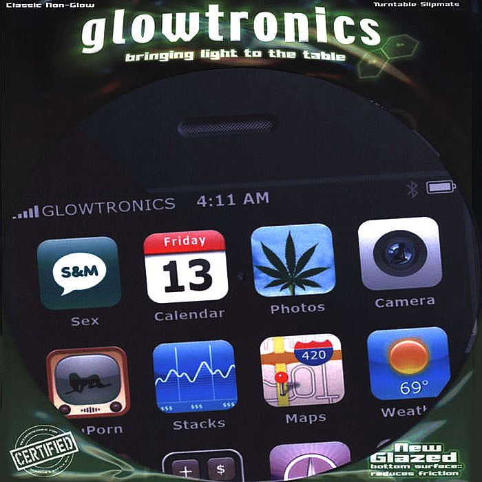 GLOWTRONICS - Glowtronics iPhone Classic Non Glow Slipmats (pair)
